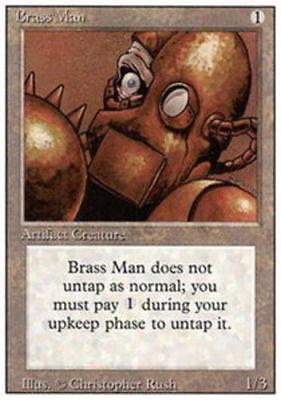 4x Brass Man MTG 3rd Edition Revised NM Magic Regular