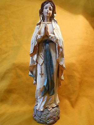 Energisch Madonna Von Lourdes Holzoptik Handbemalt Figurengröße 20 Cm Mutter Gottes Zu Verkaufen