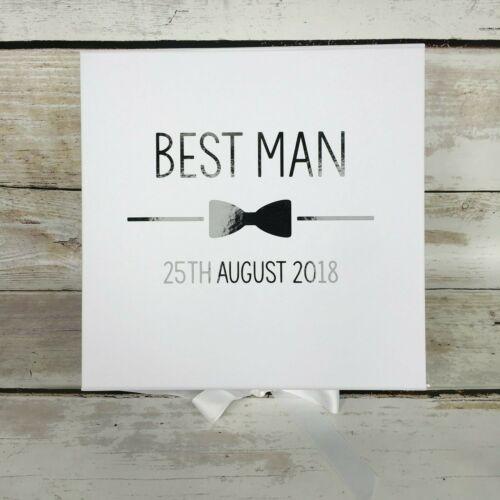 Personnalisé Garçon boîte boîte cadeau mariage faveur Meilleur Homme