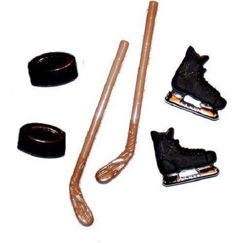 Jesse James Buttons HOCKEY ESSENTIALS sticks skates pucks CRAFT Dress It Up