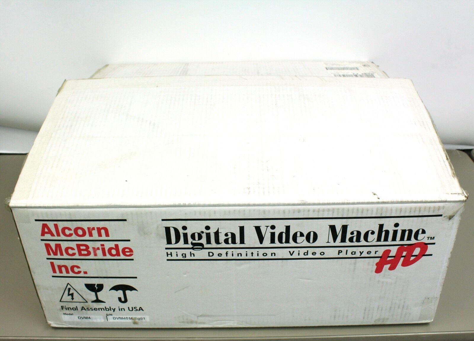 Alcorn McBride Digital Video 2V Player Machine MPEG-2 Layer II with Power Supply