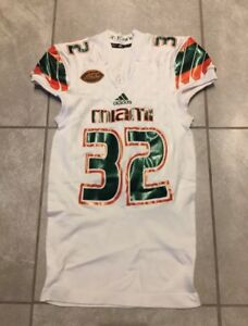 big sale 2a940 fbdef Details about Miami Hurricanes Game Worn Jersey