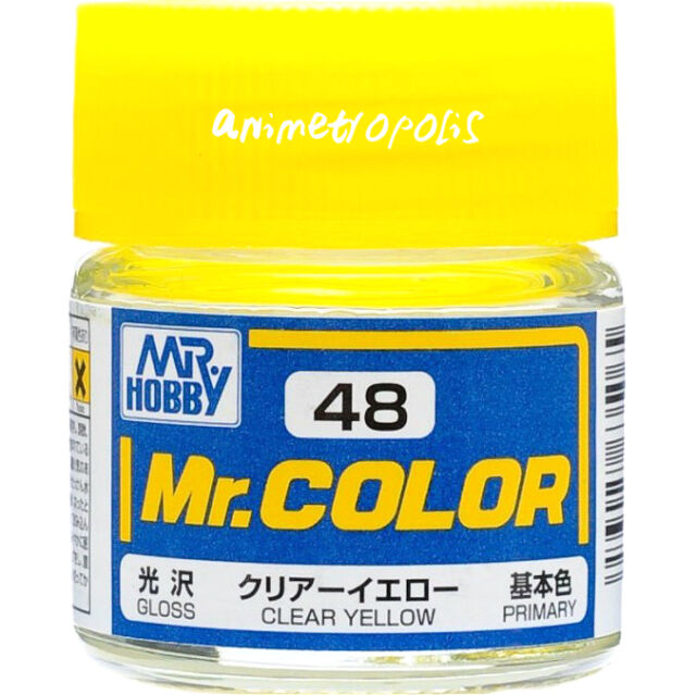 GSI Creos Gunze Mr Hobby Color Lac C48 Clear Yellow (Gloss / Primary) Paint 10ml