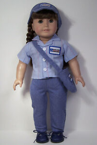 Postal Mailman Usps Post Office Uniform Doll Clothes For 18