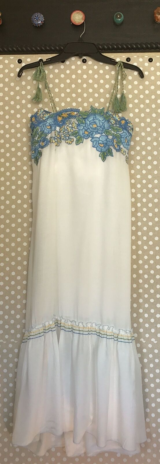 NWT Anthropologie Chelsea and lila loose fit Maxi Dress retails for 158.00 S