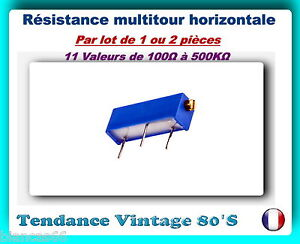 5/% POTENTIOMETRE MULTITOURS DE PUISSANCE 1 KOHM 10 TOURS 3 WATTS