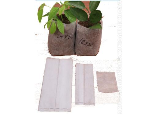 100Pcs Non-woven Nursery Bags Biodegradable Plant Seedling Fabric Pot Aeration