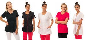 Sharley Tunic Beauty Salon SPA Uniform Nail Massage Therapist Wear Hairdressing