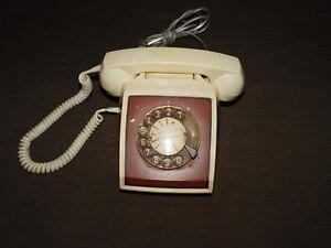 VINTAGE-1979-MEXICO-ITT-OWN-A-PHONE-2-TONE-DESK-TOP-ROTARY-DIAL-PHONE
