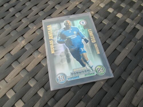 Match Attax attaque extra 2007//08 07//08 Nicolas Anelka Limited Edition card Comme neuf