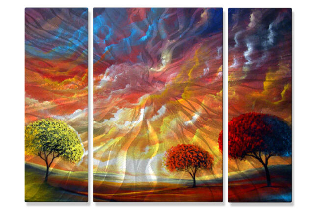 Matthew Hamblen Magic Sunset Metal Wall Art 3 Panel Set | eBay