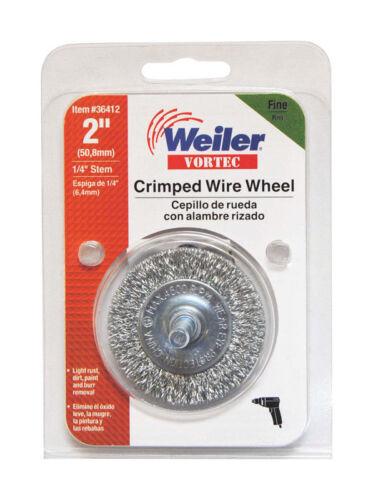 Weiler  Vortec  2 in Fine  Crimped  Wire Wheel  4500 rpm 1 pc.