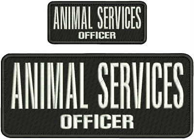 OFFICER PROTECTIVE SERVICES EMBROIDERY PATCH 4X10 /& 2X5 HOOK ON BACK BLK//WHITE