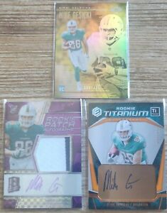 Mike Gesicki 2018 RC auto Patch Dolphins Lot Spectra /50 Elements /350