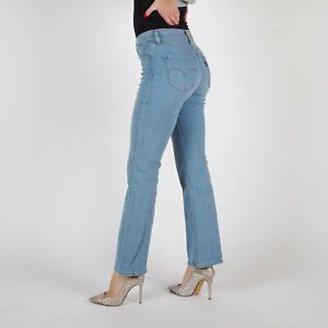 Levi-039-s-315-Shaping-Bootcut-Hellblau-Damen-stretch-Jeans-26-30
