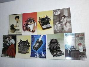 Konvolut-100-nostalgische-Postkarten-alte-Buerotechnik-und-Schreibmaschinen