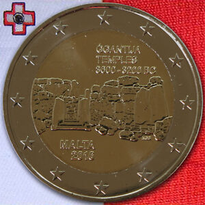 2 Euro Münze Gedenkmünze Coin Malta ġgantija Unzunc Bis Bust 2016