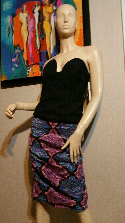 330 Nwt Nicole Miller  Artelier size  0 Crinkled Pencil Skirt