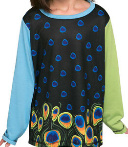 PEACOCK-winter-long-sleeve-Girls-T-shirt-FREE-DELIVERY-size-2-12