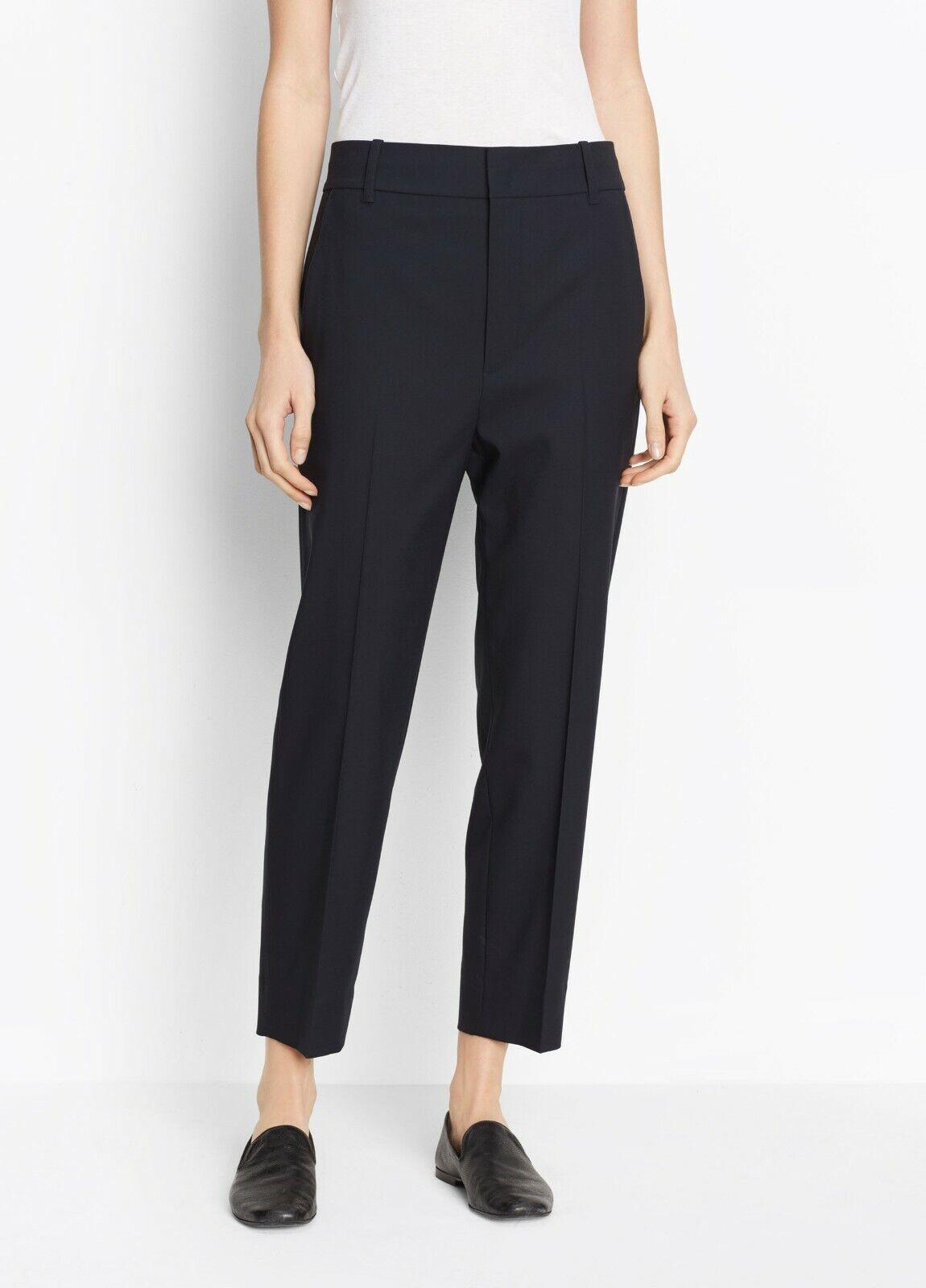 NWT Vince Wool Crop Trouser Pants Coastal Blau Größe 0, 6  335