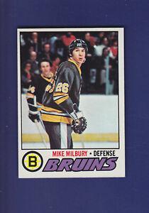 Mike-Milbury-RC-1977-78-TOPPS-Hockey-134-EX-Boston-Bruins