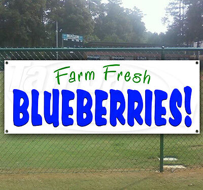 Store Advertising Flag, Many Sizes Available New Fresh Blueberries 13 oz Heavy Duty Vinyl Banner Sign with Metal Grommets