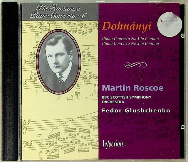 DOHNANYI- Romantic Piano Concertos Vol.6 No.1 & 2 Martin Roscoe CD Hyperion 1993
