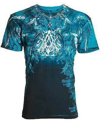 Archaic AFFLICTION Mens T-Shirt FURNACE Wings Tattoo Biker Rock MMA UFC $40 b