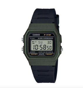 Casio-F-91WM-3ADF-Army-Green-Resin-Watch-for-Men-and-Women