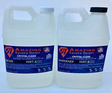 Crystal Clear Epoxy Resin Bar Amptable Top Coating Ampcasting Crafts 1 Gallon Kit
