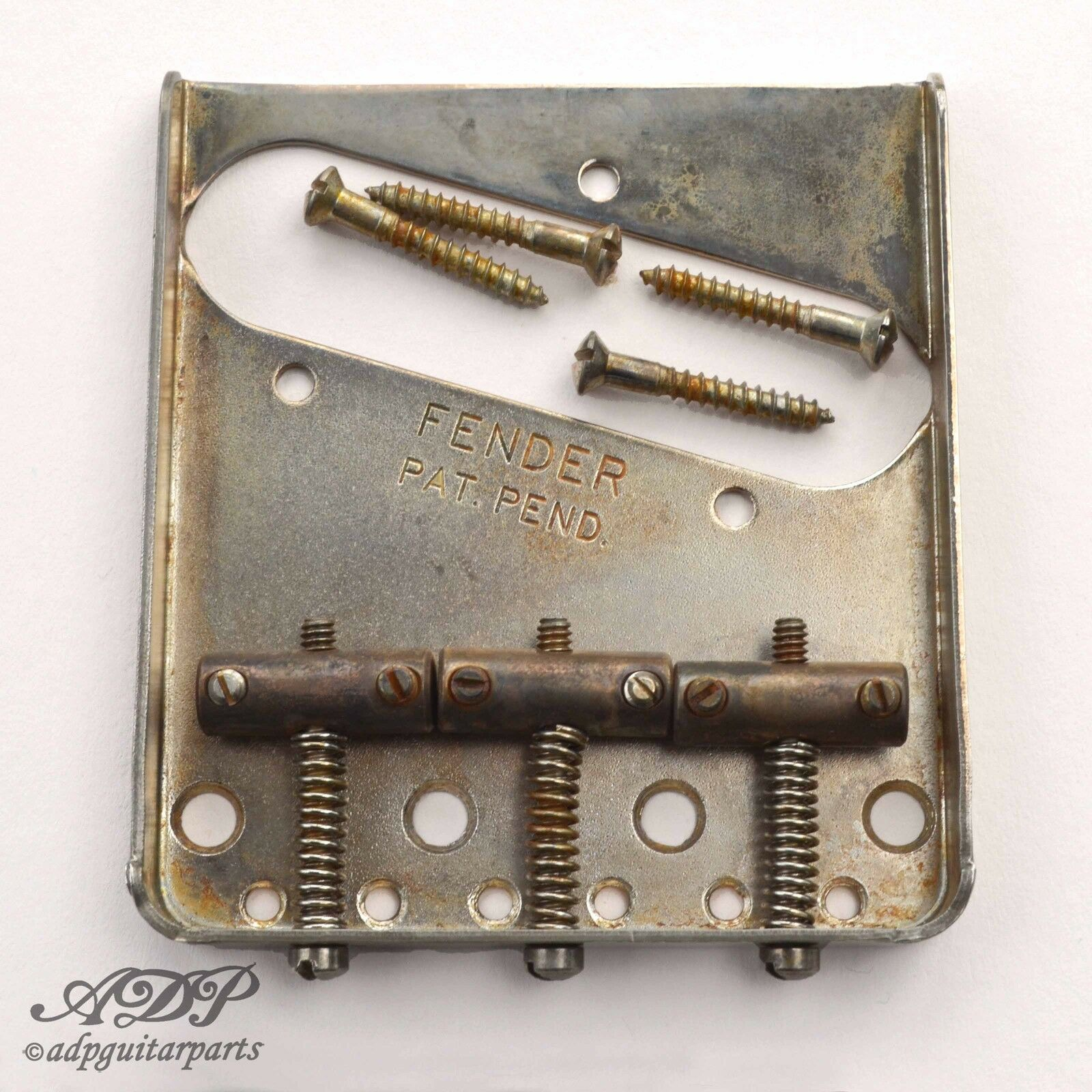 CordierTelecaster Fender USA Pat-Pend 3xBrass SaddleTele Bridge 0990806100 Relic