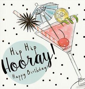Birthday Card Cocktails Good Quality Tallon Female Friend Relative Ebay