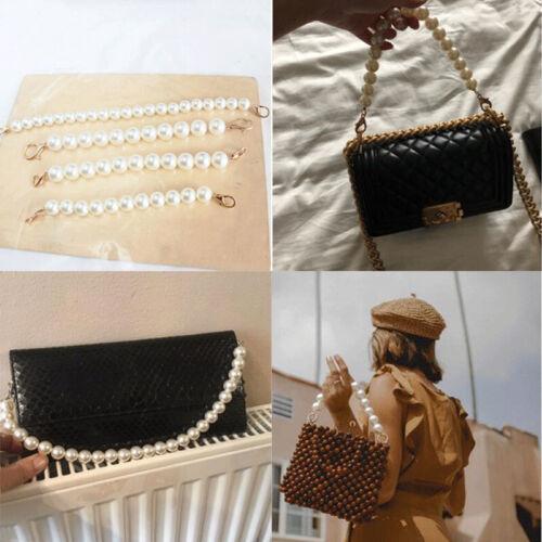 Faux pearl Bead Rope Bag Strap Handle Shoulder Belt for Handbag DIY Replacement