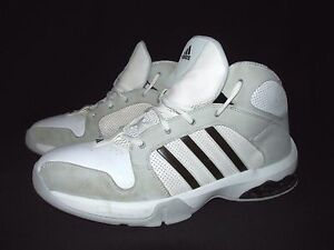 White Gray Leather Basketball Shoes