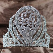 "Royal Tiara Headband 5"" Crown Rhinestone Bride Beauty Pageant Prom Party Costume"