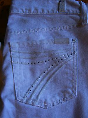 7 SEVEN for all MANKIND DOJO White Jean w Crystals NWT $225 S 25