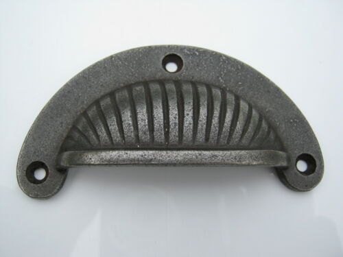 Antique Ridged Iron Cup Handle for Furniture Kitchen Cupboards 92mm