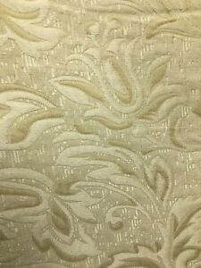 GOLD-Jacquard-Brocade-Floral-Upholstery-Drapery-Fabric-54-in-Sold-BTY