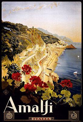 TA23 Vintage Italian Italy Amalfi Salerno Travel Poster Print - A1 A2 A3