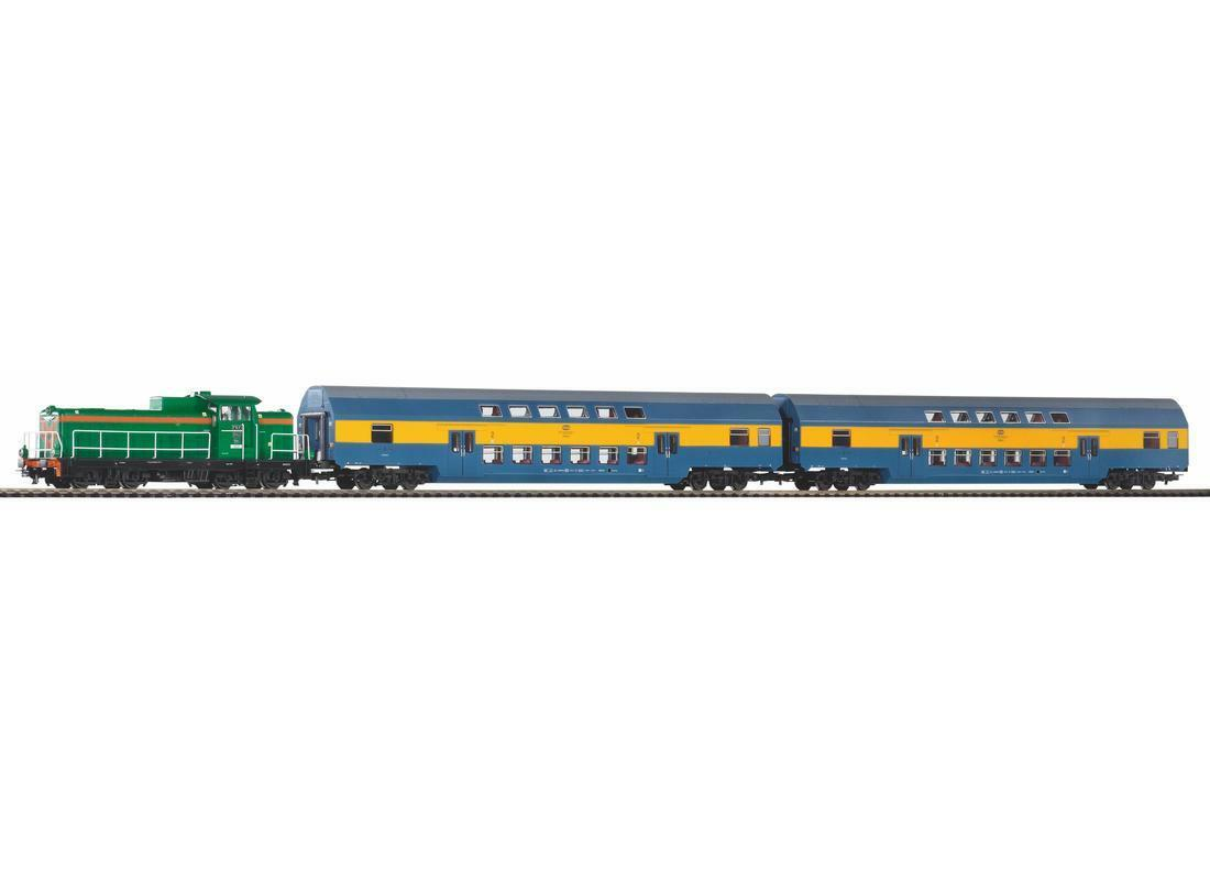 PIKO h0 97924-Start-Set sm42 con doppio bastone carrello PKPe Merce Nuova