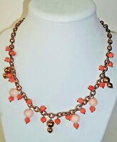 Zoccai Of Venice Italy Natural Coral Necklace 14k Rose Gold Over Sterling $550.