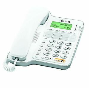 ATT-Landline-Phone-With-Answering-Machine-For-Seniors-Large-Button-For-Home-Wall
