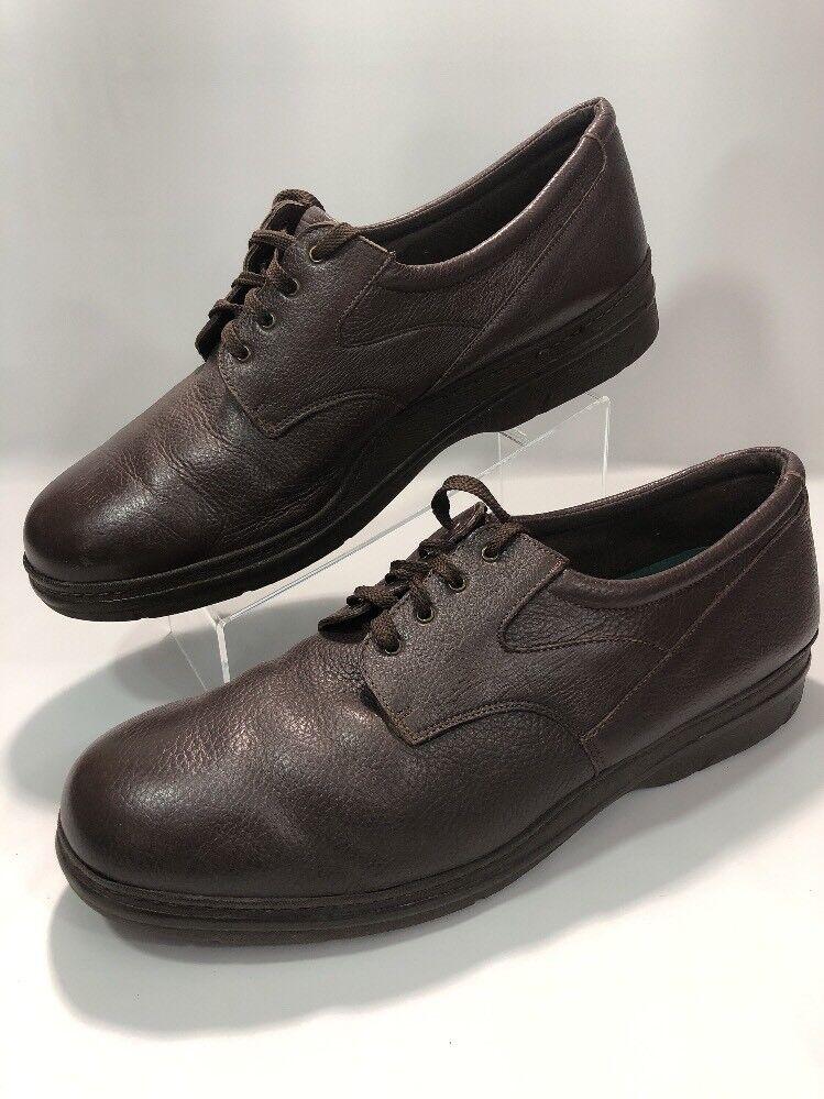 Mens Sz Brown 16N Soft Spots Supreme Brown Sz Leather Comfort Shoes ba290b