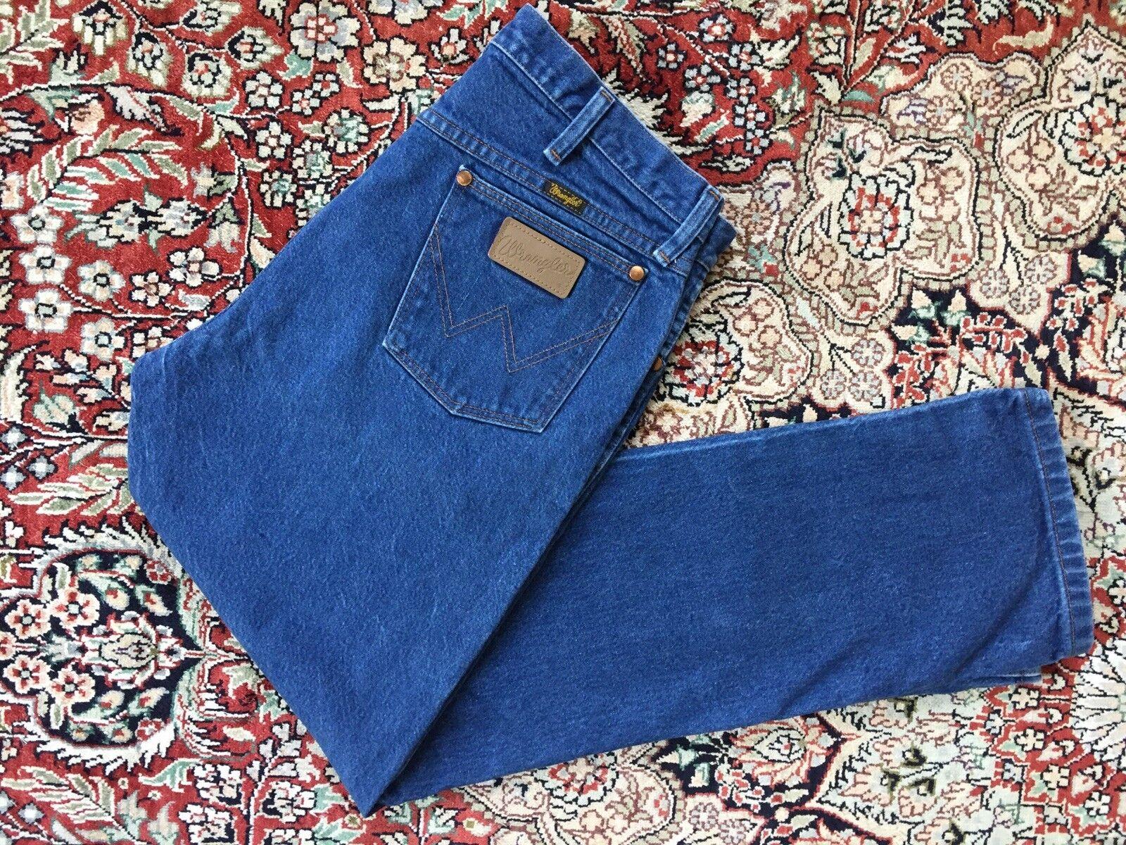 Vtg Wrangler Dark Wash Denim Jeans men's 34x30 13mwz Cowboy High Waisted 845