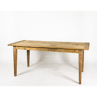 New Rustic Provincial Recycled Elm Solid Timber Dining Table Raw Natural Finish Ebay