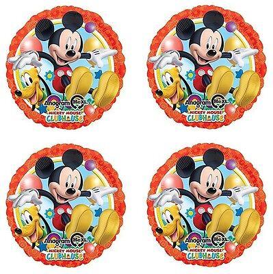 "4x Disney Mickey Mouse /& Pluto  Birthday Party 18/"" inch Foil Mylar Balloon"
