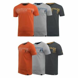 Mens-Crosshatch-T-shirt-Contrast-Graphic-Print-Top-Tee-Westfan