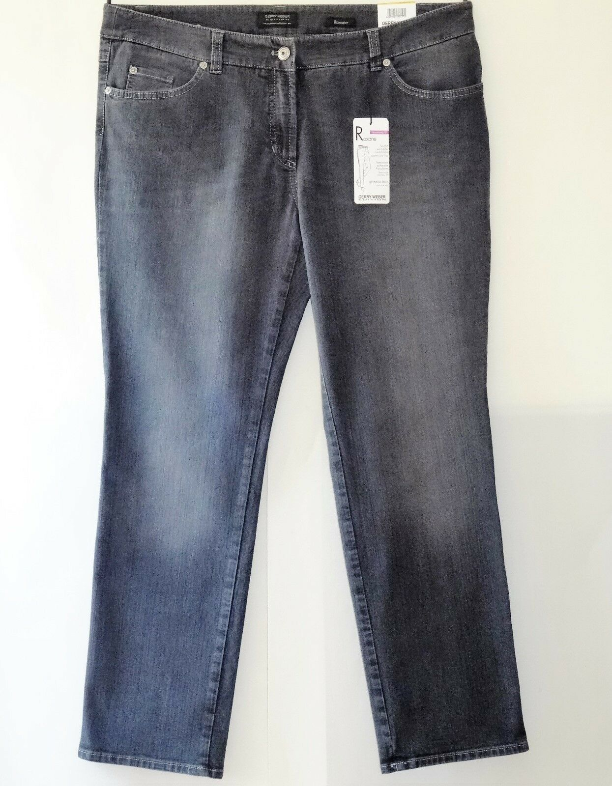 Edition by Gerry Weber Jeans Gr. 48 ROXANE mit Stretch Damenjeans Hose Damenhose