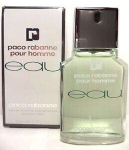 50ml-EAU-de-PACO-RABANNE-EDT-Pour-Homme-1-6-oz-RARE-Neuf-sous-blister