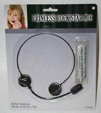 Princess Rock Star Headset Microphone lip sync stage pop music dance makeup toy